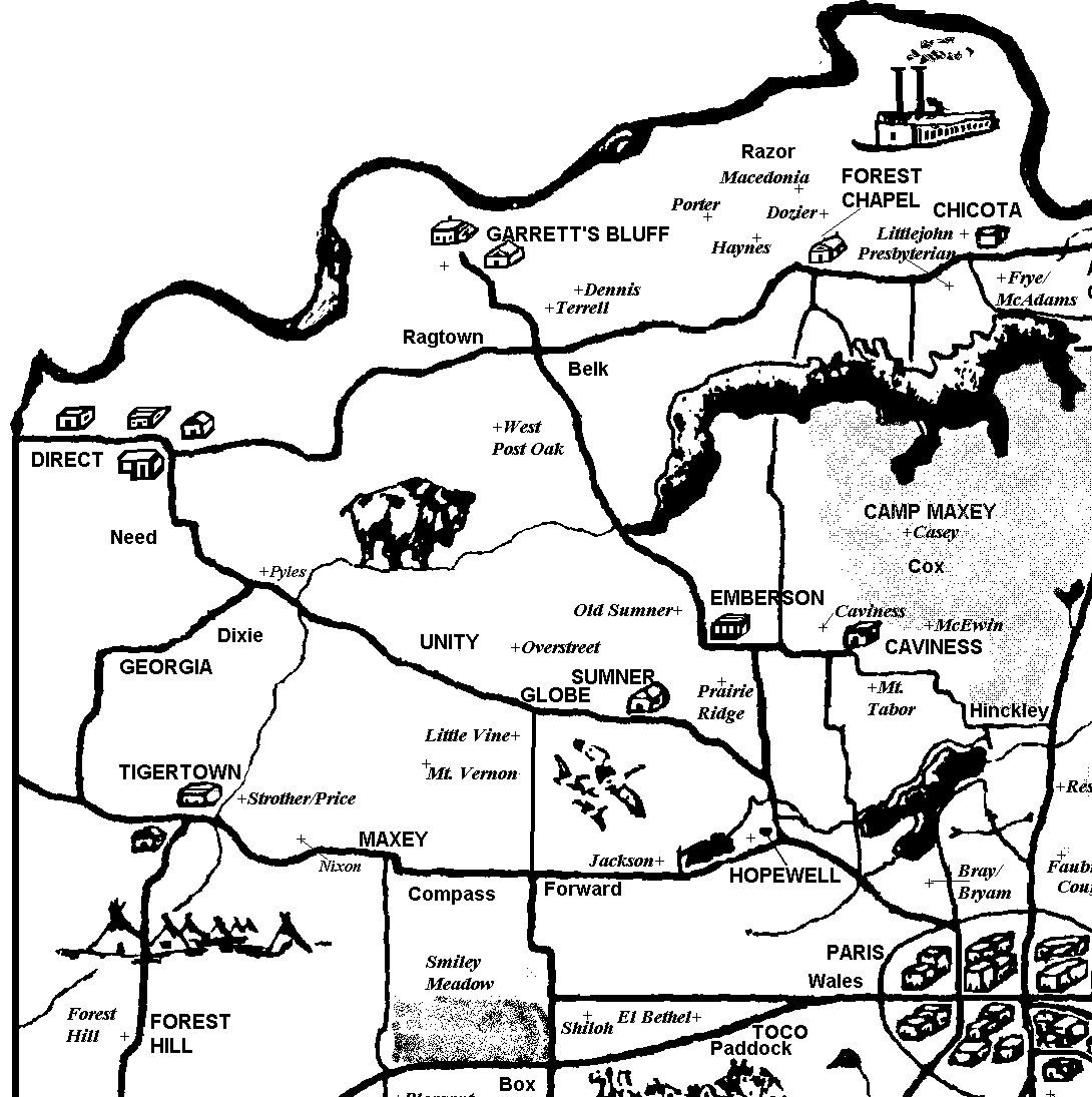 Cemetery Map Northwest Quadrant Lamar County Texas