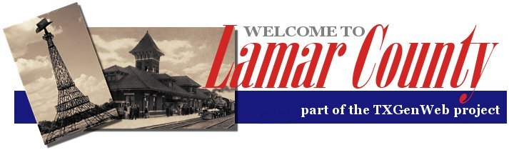Lamar County, Texas Genealogy and Family History Home Page